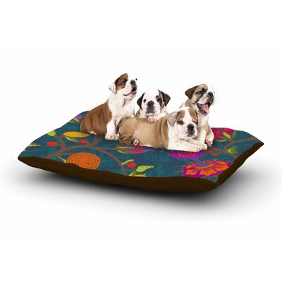 Laura Nicholson Flora Exotica Floral Dog Pillow with Fleece Cozy Top