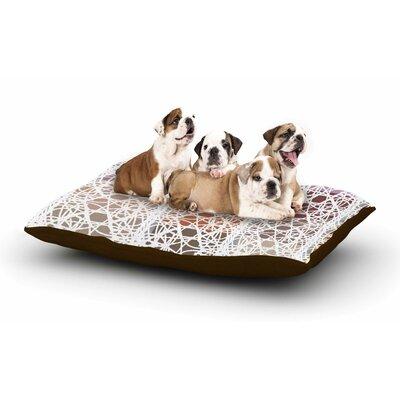Laura Nicholson Thatch Plaid Dog Pillow with Fleece Cozy Top