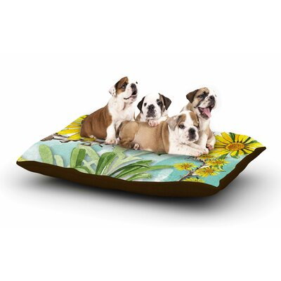 Liz Perez Sunny Day Floral Dog Pillow with Fleece Cozy Top