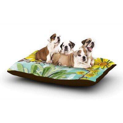 Liz Perez Sunny Day Floral Dog Pillow with Fleece Cozy Top
