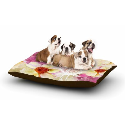 Liz Perez Sweet Florist Dog Pillow with Fleece Cozy Top