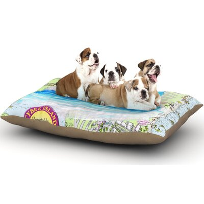 Rosie Brown Tybee Island Ocean View Dog Pillow with Fleece Cozy Top Size: Large (50 W x 40 D x 8 H)