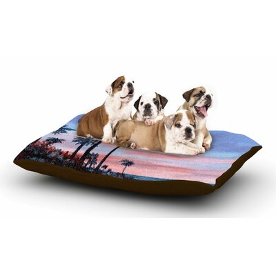 Rosie Brown Florida Sunset Dog Pillow with Fleece Cozy Top Size: Large (50 W x 40 D x 8 H)