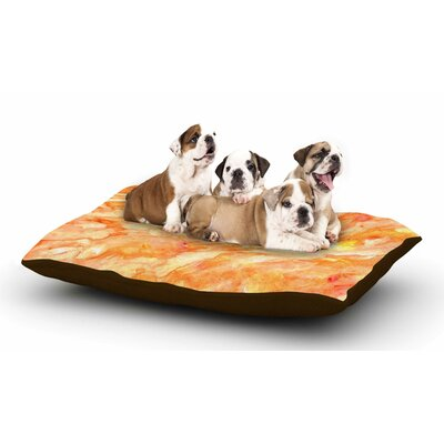 Rosie Brown Autumn Paint Dog Pillow with Fleece Cozy Top Size: Small (40 W x 30 D x 8 H)