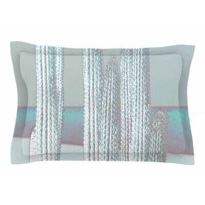 Suzanne Carter Cactus Digital Sham Color: Blue/Gray, Size: King