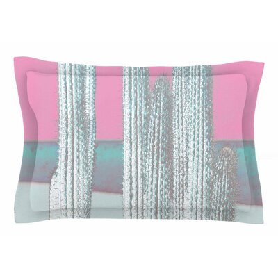 Suzanne Carter 'Cactus' Digital Sham Size: King, Color: Pink/Multi