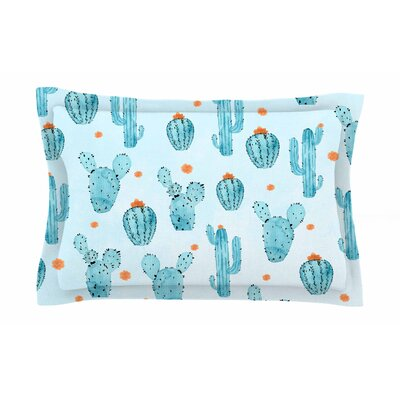 Strawberringo Cactus Watercolor Sham Size: Queen