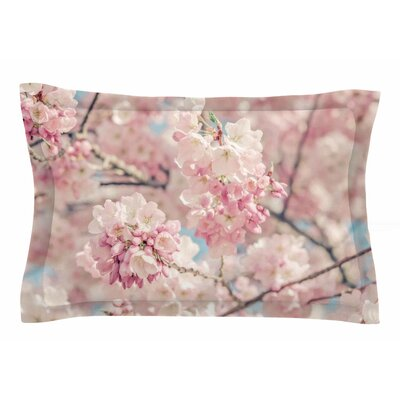 Suzanne Harford Cherry Blossoms Photography Sham Size: Queen