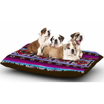 S Seema Z Sindhi Ajrak Dog Pillow with Fleece Cozy Top