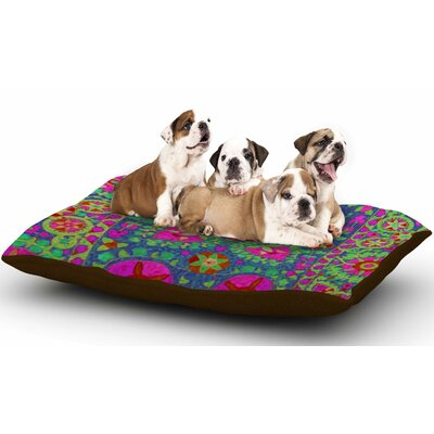 S Seema Z 'Kashmeer Love' Dog Pillow with Fleece Cozy Top
