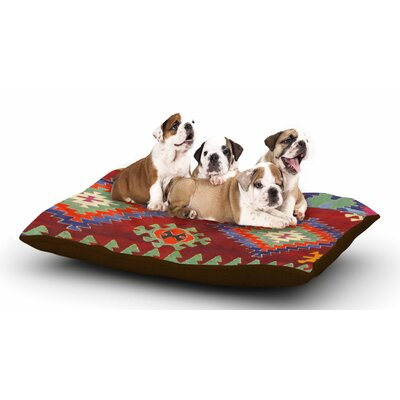 S Seema Z Tapestry Ethnic Dog Pillow with Fleece Cozy Top