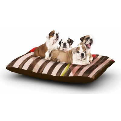 S Seema Z Classic rose Stripes Dog Pillow with Fleece Cozy Top