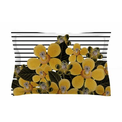 Tobe Fonseca Spring Lines Yellow Mixed Media Sham Size: King