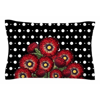 Tobe Fonseca Spring Floral Red Mixed Media Sham Size: King