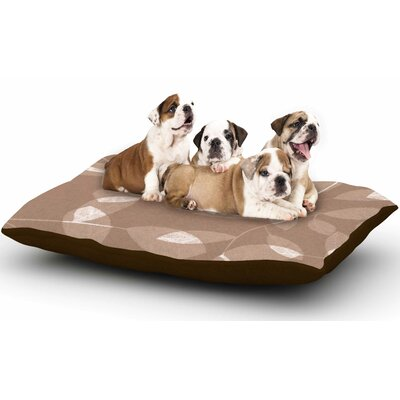 Alison Coxon Leaf Tawny Dog Pillow with Fleece Cozy Top