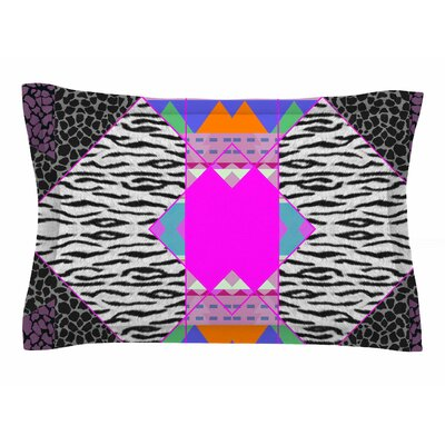 Vasare Nar Zebra Native Pink Tribal Sham Size: Queen