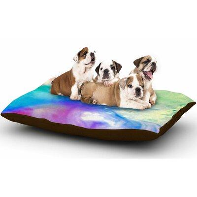 Alison Coxon Rainbow Flow Dog Pillow with Fleece Cozy Top