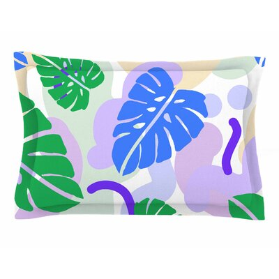 Vasare Nar Monstera Tropical Plant Digital Sham Size: Queen