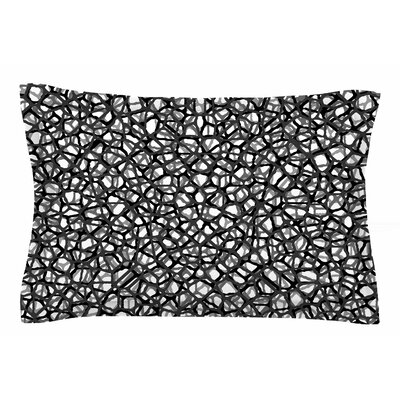 Trebam Staklo Digital Sham Color: Black/Gray, Size: King