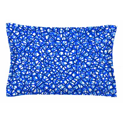 Trebam Staklo Digital Sham Size: Queen, Color: Blue/White