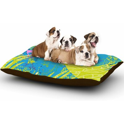 Pattern Muse Tropical Fly-By Dog Pillow with Fleece Cozy Top