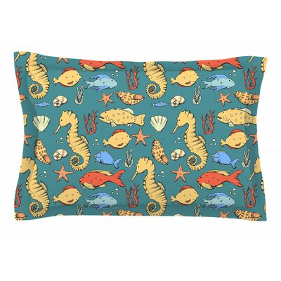 Stephanie Vaeth Under the Sea Illustration Sham Size: King