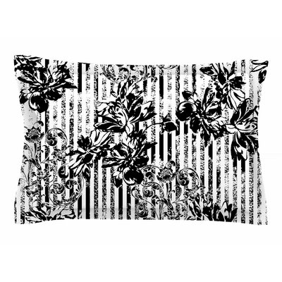 Victoria Krupp Stripes and Flowers Digital Sham Size: Queen