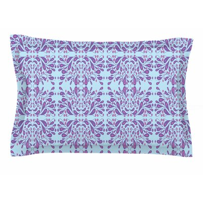 Rosie Brown Blue Purple Bloom Mixed Media Sham Size: Queen