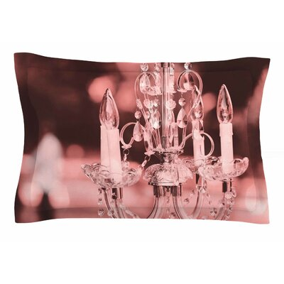 Suzanne Carter Pink Chandelier Digital Sham Size: Queen