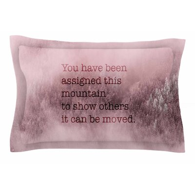 Suzanne Carter Mountain Typography Digital Sham Size: Queen
