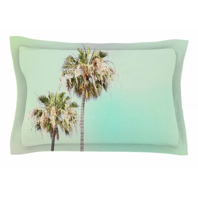 Sylvia Coomes Pastel Palm Trees Photography Sham Size: Queen
