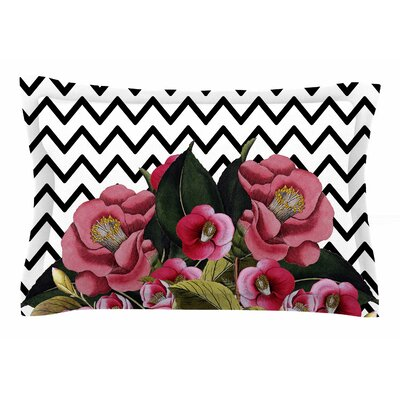 Tobe Fonseca Spring Chevron Pink Mixed Media Sham Size: Queen