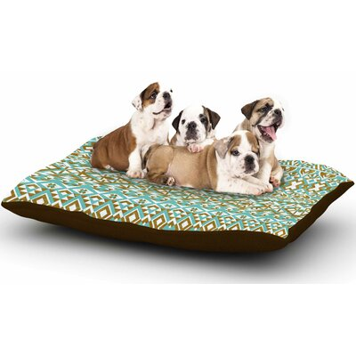 Pom Graphic Design Mint & Gold Tribals Dog Pillow with Fleece Cozy Top