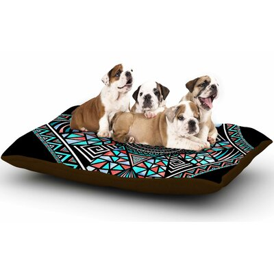Pom Graphic Design Geo Glass Dog Pillow with Fleece Cozy Top