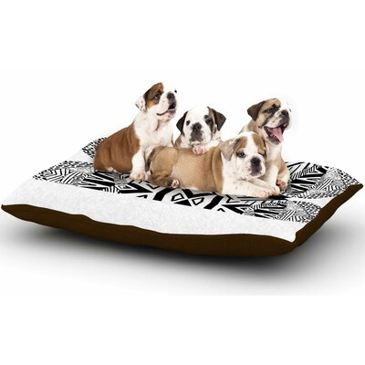 Pom Graphic Design Ocean Retro Vibes Dog Pillow with Fleece Cozy Top Size: Small (40 W x 30 D x 8 H)