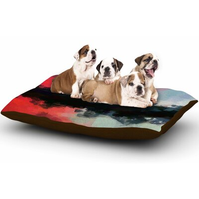 Oriana Cordero Days of Summer Abstract Dog Pillow with Fleece Cozy Top Size: Small (40 W x 30 D x 8 H)