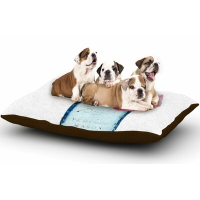Oriana Cordero My World Map Dog Pillow with Fleece Cozy Top Size: Small (40 W x 30 D x 8 H)