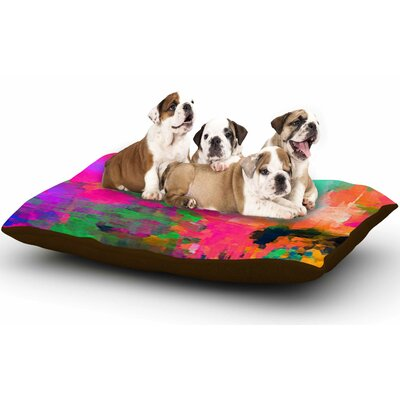 Oriana Cordero Mondrian & Me Squares Dog Pillow with Fleece Cozy Top Size: Large (50 W x 40 D x 8 H)