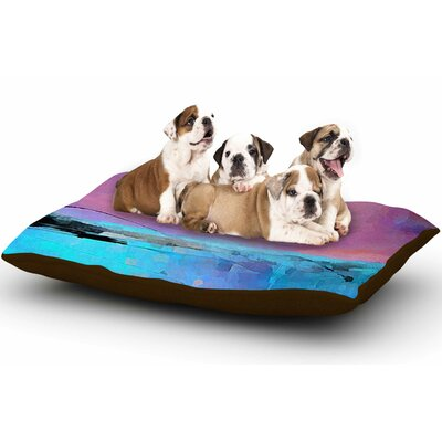 Oriana Cordero Interlace Dog Pillow with Fleece Cozy Top Size: Small (40 W x 30 D x 8 H)