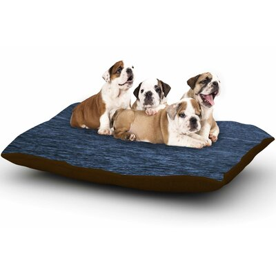 Nick Nareshni Boat on the Ocean Dog Pillow with Fleece Cozy Top
