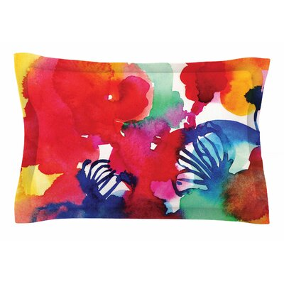Sonal Nathwani Celebration Floral Painting Sham Size: Queen