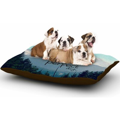 Robin Dickinson A Perfect Day Dog Pillow with Fleece Cozy Top