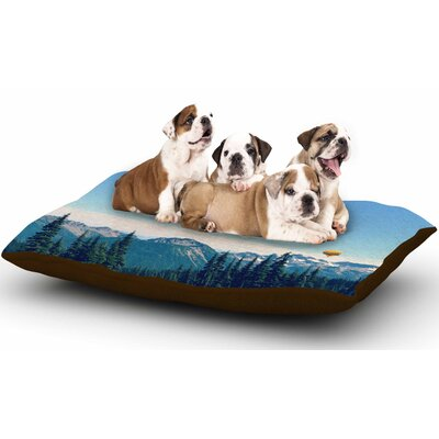 Robin Dickinson Its a Helluva Life Mountain Dog Pillow with Fleece Cozy Top