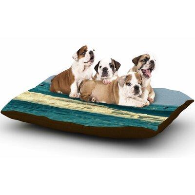 Robin Dickinson Break Free & Soar Ocean Wave Dog Pillow with Fleece Cozy Top