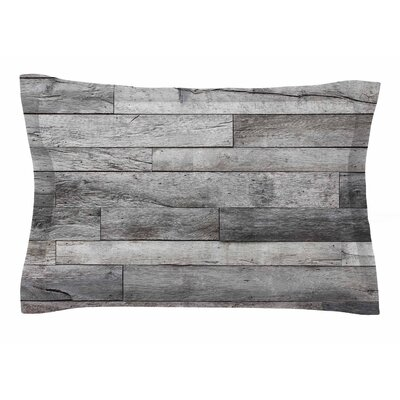 Susan Sanders Gray Rustic Wood Photography Sham Size: Queen
