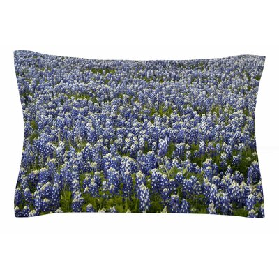 Susan Sanders Purple Flower Lavender Fields Photography Sham Size: Queen