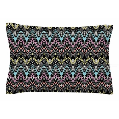 Victoria Krupp Tribal Zigzag Digital Sham Size: Queen