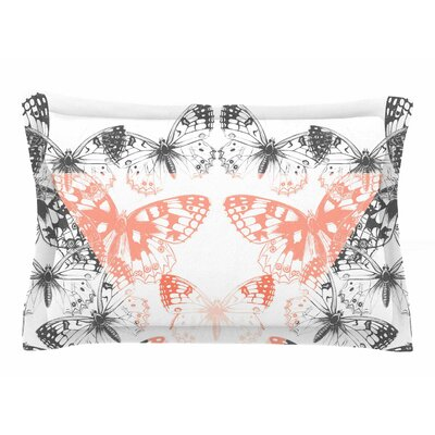 Victoria Krupp Geo Butterflies Illustration Sham Size: Queen