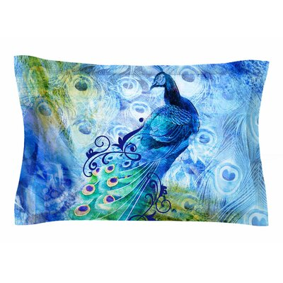 Victoria Krupp Blue Peacock Digital Sham Size: King