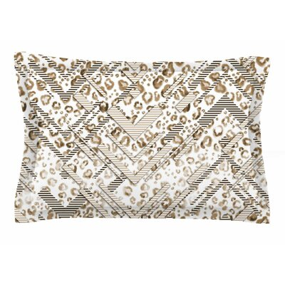 Victoria Krupp Abstract Animal Chevron Digital Sham Size: 20 H x 40 W x 0.25 D